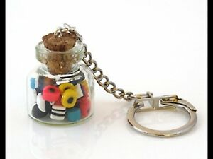 Keyring Liquorice Allsorts Candy Sweets Handmade Retro Vintage Gift Ideas