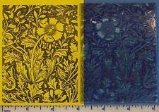 UM Floral Design by Wm Morris rubber stamp great detail