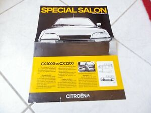 Citroen CX gamme 1974 Salon de Paris FR brochure catalogue prospectus dépliant