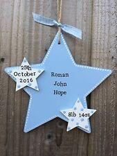 Handmade Personalised Plaque Door Sign New Newborn Baby Nursery Gift Present
