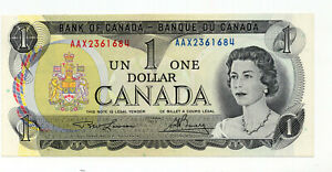 Bank of Canada 1973 $1 One Dollar Replacement Note Lithographed Back GEM UNC