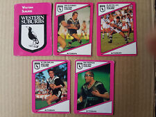 1988 Wests Magpies Team Set x 5 Cards