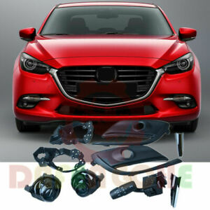 For Mazda 3 Axela 2017-2018 Front Bumper Fog Light Kits With Auto Switch 9PCS