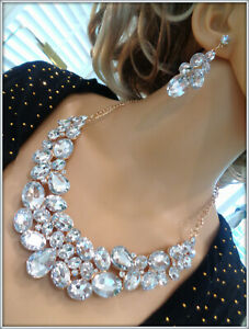 crystal necklace earring set party gift wedding