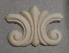 "Furniture Birch Wood Applique Small Splash 3 1/4"" x 2 1/4"" Cabinet"