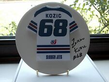 Zoran Kozic, Slough Jets, Rare & Stunning Autographed/Signed Plaque.