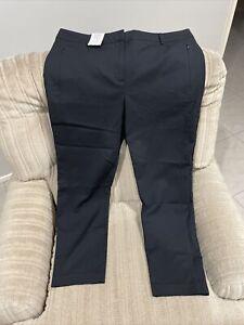 Jacqui E Size 16 Black Skinny Ankle Work Pants NWT