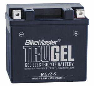 TruGel Motorcycle Gel Battery Bikemaster HTZ7S-GEL Replaces YTZ7S