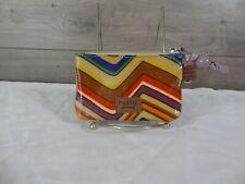 Fossil Coated Canvas Multi Color Coin Bag Purse Handbag