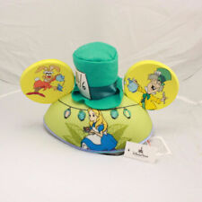 ​Disney Parks Alice in Wonderland Mickey Mouse Ears Hat Adult Size Green