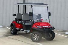 """New 2022 Met. Red / Gray 48V Electric Golf Cart 6"""" Lifted 4 Passenger Forward"""