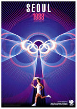 SEOUL KOREA 1988 Summer Olympic Games Official Olympic Museum POSTER Reprint