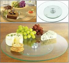 Tempered Glass Lazy Susan Rotating Turntable Serving Plate Tray Cake Decorating