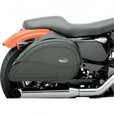 Saddlebag universal synthetic leather teardrop smooth bla... Saddlemen 3501-0455