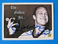 1992 ULTIMAT BOBBY HULL SIGNED HOCKEY CARD #96 ~ 100% GUARANTEE