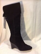 Next Black Knee High Suede Boots Size 5