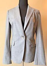 Banana Republic Gray Wool Blend One Button Blazer Jacket size 8 Lined CJ10