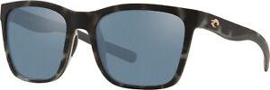 Costa Del Mar Panga Sunglasses PAG256OGSP Matte Gray/Silver Mirror 580P Genuine