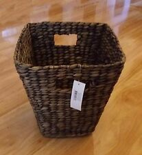 Natural Wicker Rattan Basket Planter, Office Home Dust Bin