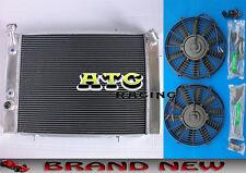 3 row Aluminum Radiator & fans for HOLDEN COMMODORE VB VC VH VK V8 AT/MT