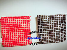 Lot of 4 New IKEA Fold-able Pocket Reusable Shopping Tote Bags - red & black