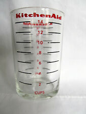 Vintage KitchenAid Measuring Glass for Coffee Grinder Red & Black Print 14 cup