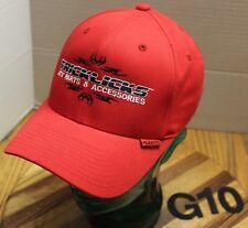TRICKLICKS ATV PARTS & ACCESSORIES HAT RED SIZE S/M EMBROIDERED VGC G10