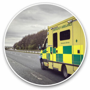 2 x Vinyl Stickers 7.5cm - Ambulance Emergency Services Cool Gift #15804
