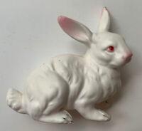Vintage Napcoware Ceramic White Rabbit Figurine C-6390 Japan Sitting Bunny