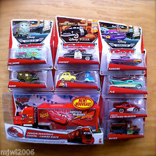 Disney Cars MACK HAULER & SHERIFF RAMONE FLO SARGE FILLMORE LUIGI GUIDO lot of 9