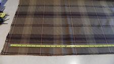 Black Brown Gold Plaid Print Upholstery Fabric  1 Yard  F1098