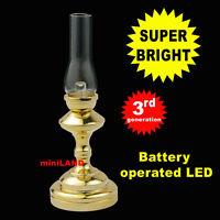 T. Hurricane Super bright battery LED LAMP Dollhouse miniature light on/off Br