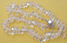 41 cm Bergkristallkette - Collier aus Bergkristall Tropfen Halskette Silber 925