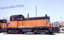 Milwaukee Road SW1 switcher diesel locomotive train railroad postcard