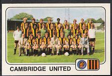 PANINI CALCIO 1979 Autoadesivo-n. 390-Cambridge Uniti TEAM Group