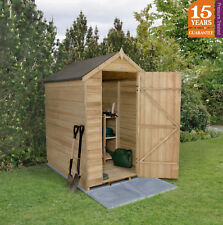 forest 6x4 pressure treated apex windowless garden tool shed patio storage new - Garden Sheds 6x4