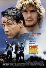 "POINT BREAK (1991) Silk Movie Poster 11""x17"" Action Keanu Reeves Patrick Swayze"
