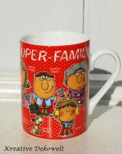 Design Kaffeebecher Tasse super Family Sprüche Oma Opa Porzellan 0 25l H.10cm
