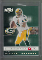2001 PLAYOFF PREFERRED NATIONAL TREASURES #69 BRETT FAVRE 280/400 PACKERS