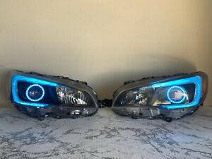 2015-2017 Subaru WRX  Pre-Built Headlights LED RGB Angel Eyes Halo Ring