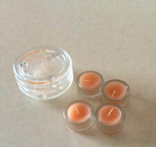 candles,glass candle holders and glass coasters or candle holder