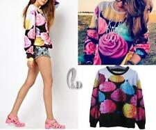 Cotton Blend Long Sleeve Floral Regular Tops & Blouses for Women