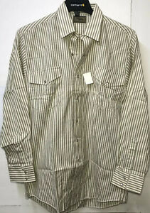 Men's Roper Rodeo Brown Striped Sz 16.5x32 Cowboy Western Pearl Snap Shirt Read