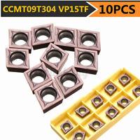 10x Wendeschneidplatten Wendeplatten CCMT09T304 VP15TF CCMT32.51 für Edelstahl