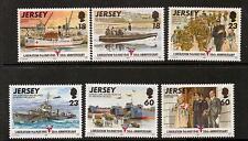 JERSEY SG700/5 1995 50th ANNIV OF LIBERATION MNH