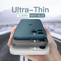 Case For iPhone 12 11 Pro Max XS XR X 8 7 0.2mm Ultra-thin Shockproof Hard Cover