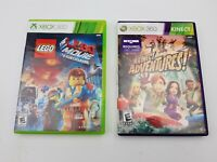 XBOX 360 - 2 Game Lot - LEGO Movie Videogame & Kinect Adventures - Rated E Game