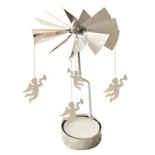 Spinning Rotary Metal Carousel Tea Light Candle Holder Stand Light Xmas Gif I3O3