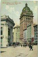 1910's Market Street View Grant Avenue San Francisco California Vintage Postcard