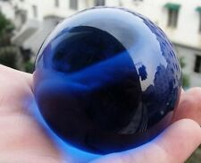 Dark Blue Asian Natural Crystal Glass Healing Ball Sphere 40mm +Stand A3